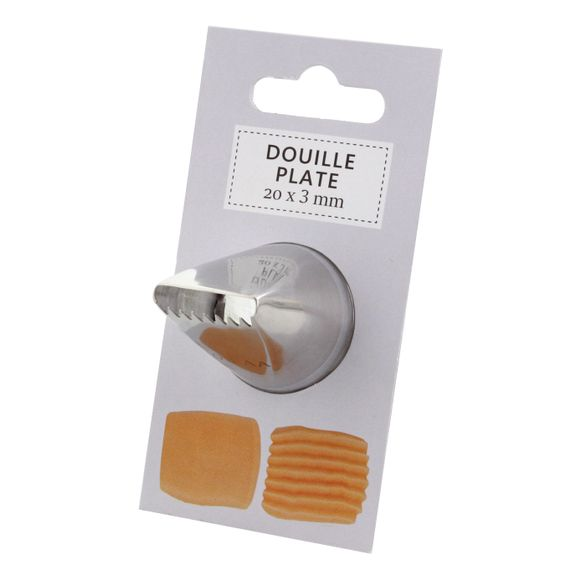 Douille plate 20x3mm 20x3
