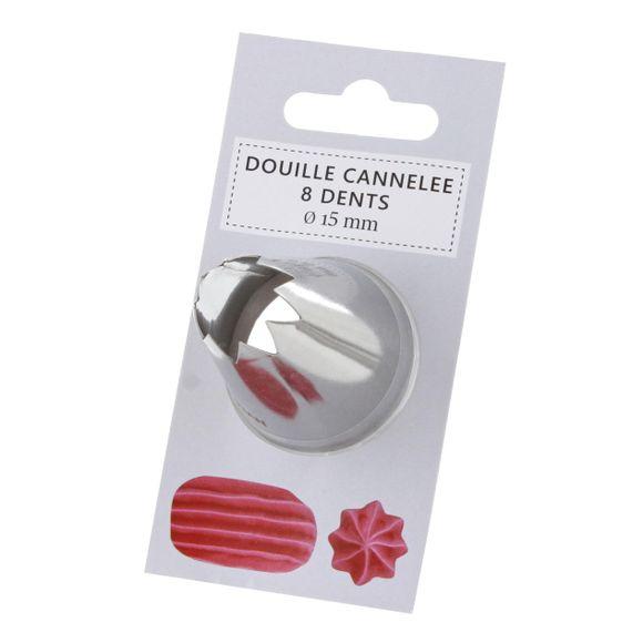 Douille cannelée 15mm 8 dents 109