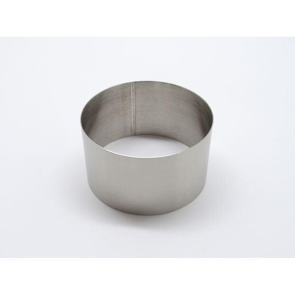 Cercle inox diamètre 8cm hauteur 4,5cm