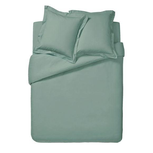 Copripiumino matrimoniale king size in cotone verde salvia