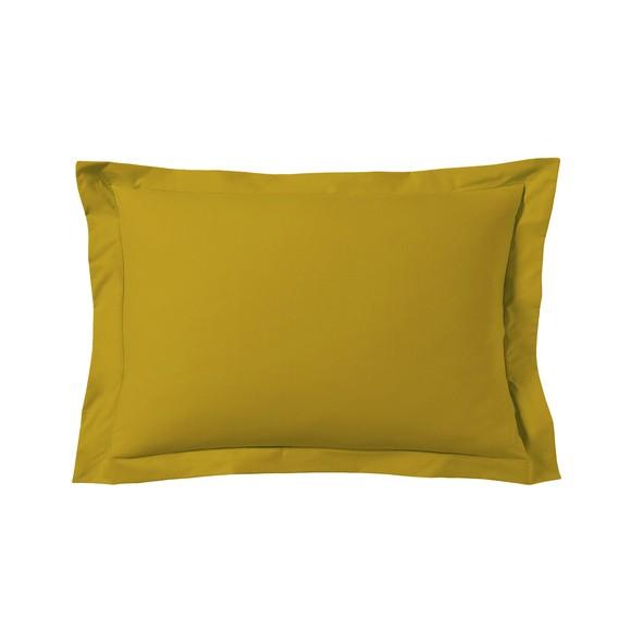 Federa in cotone giallo curry 50x70cm