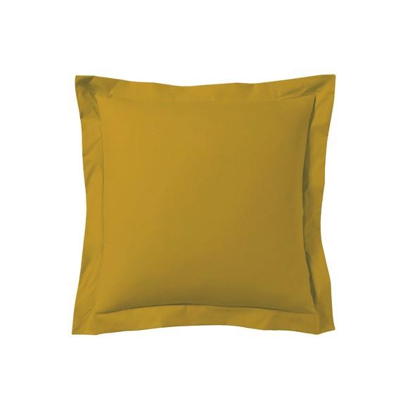 Federa quadrata in cotone giallo curry 65x65cm