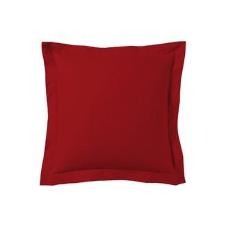 Taie d'oreiller carrée rouge grenade 65x65cm