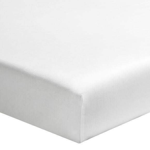 Lenzuolo con angoli singolo in cotone bianco