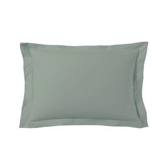 Taie d'oreiller rectangle gris fumée 50x70cm