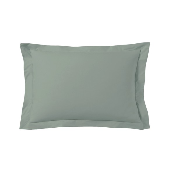 Federa in cotone verde salvia 50x70cm