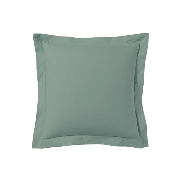 Federa quadrata in cotone verde salvia 65x65cm