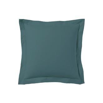 Taie d'oreiller carrée bleu peacock 65x65cm