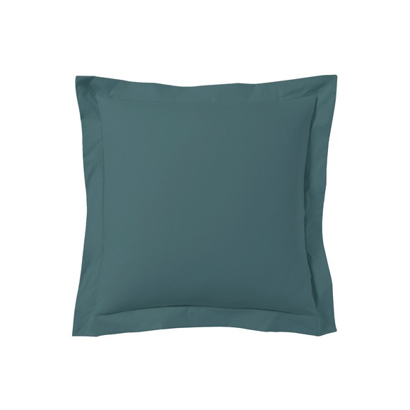 Federa quadrata in cotone blu petrolio 65x65cm