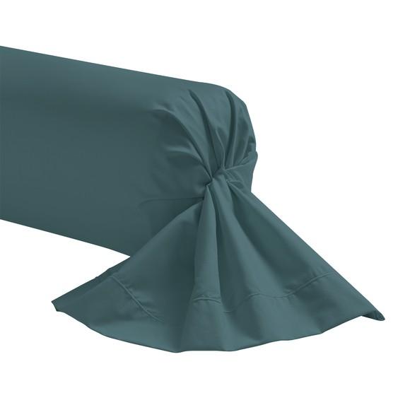 acquista online Federa per traversino in cotone blu petrolio 44x185cm