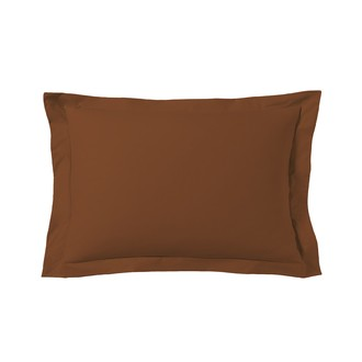 Zodio - taie d'oreiller rectangle rouge terracotta 50x70cm