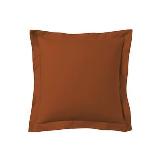 Taie d'oreiller carrée rouge terracotta 65x65cm