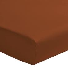Achat en ligne Drap housse terracotta matelas épais 180x200cm