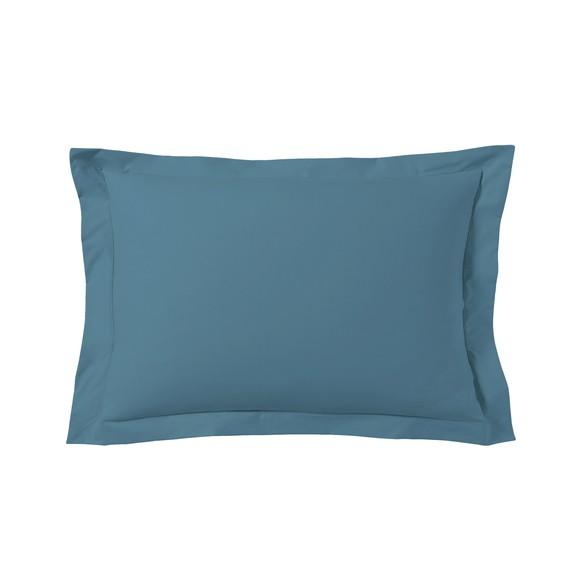 Federa in cotone blu azzurro 50x70cm