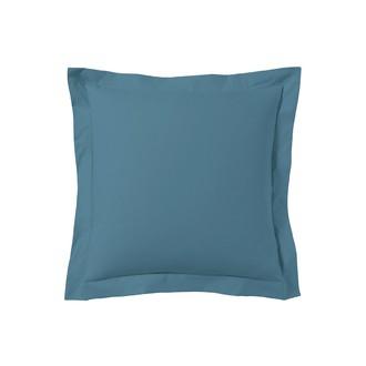 Taie d'oreiller carrée bleu postal 65x65cm