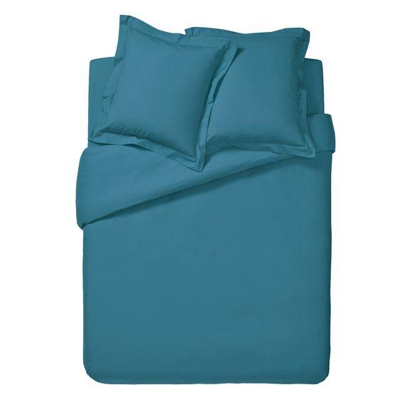Copripiumino matrimoniale in cotone blu azzurro