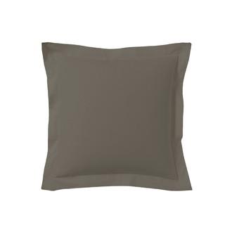 Taie d'oreiller carrée noir caviar 65x65cm