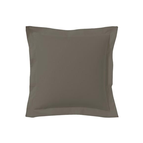 Federa quadrata in cotone nero 65x65cm