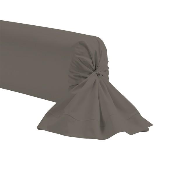 Federa per traversino in cotone nero 44x185cm