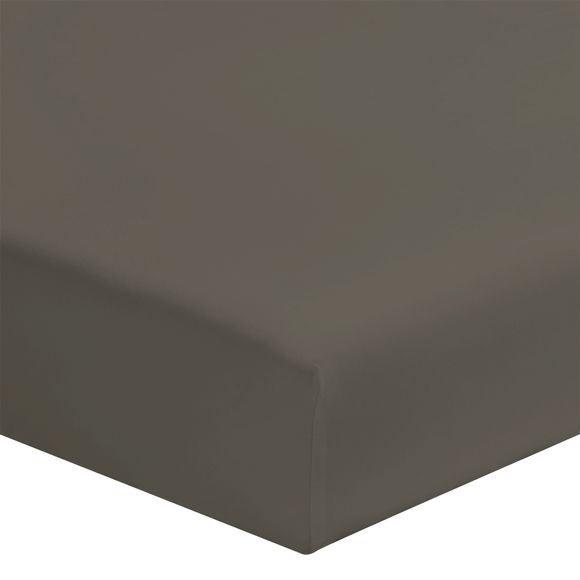Lenzuolo con angoli singolo in cotone grigio