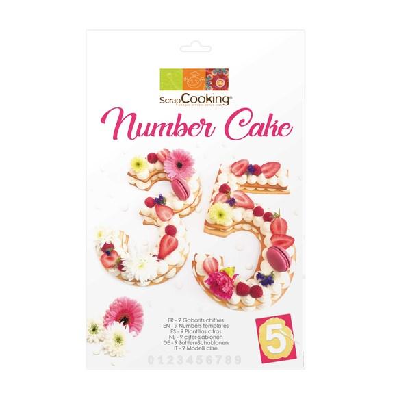 Kit de gabarit Number cake en plastique