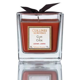 COLLINES DE PROVENCE - Bougie parf cuir & cade 200g