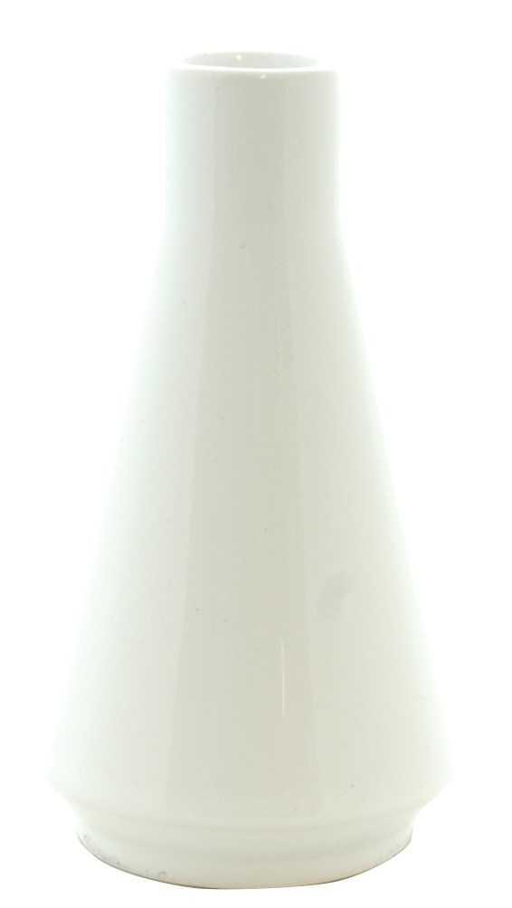 Vase bouquet parf trapèze blanc