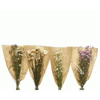 Bouquet de fleurs séchées rhodante coloris assortis
