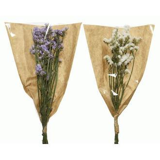 Bouquet de fleurs séchées statice coloris assortis