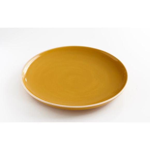 Assiette à dessert curry brillant 20 cm