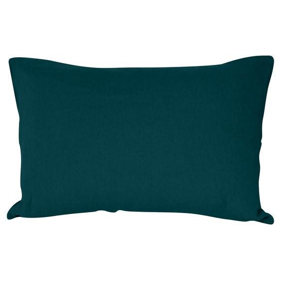 Federa in lino e cotone blu verde 50x70