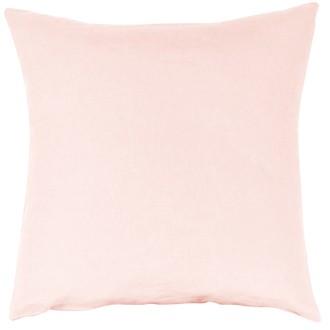 Taie d'oreiller en lin et coton lavé rose makeup 65x65cm