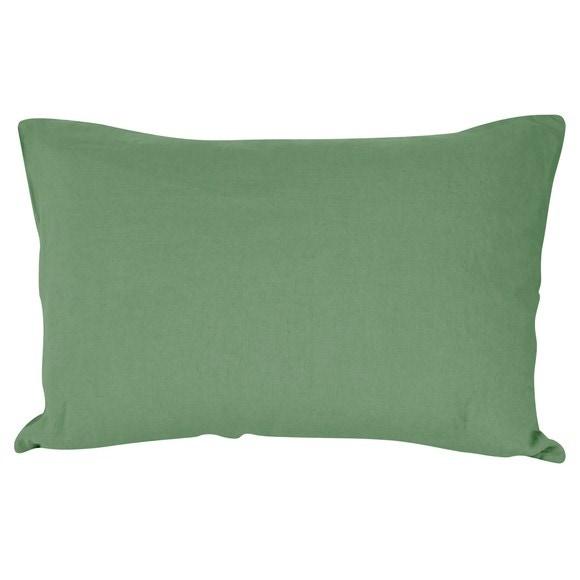 Federa in lino e cotone verde salvia 50x70