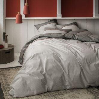 Housse de couette 140x200cm en coton ezpeleta gris