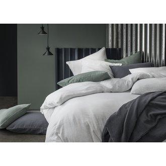 Zodio - taie d'oreiller carrée en gaze de coton gris 65x65cm