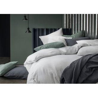 Taie d'oreiller rectangle en gaze de coton blanc 50x70cm