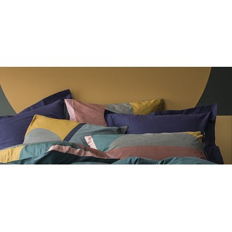 6edb25dea048f nouveauté ZODIO - Taie d oreiller carrée en percale Abstraction 65X65cm