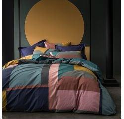 Achat en ligne Housse de couette 240x220cm en percale Abstraction multicolore