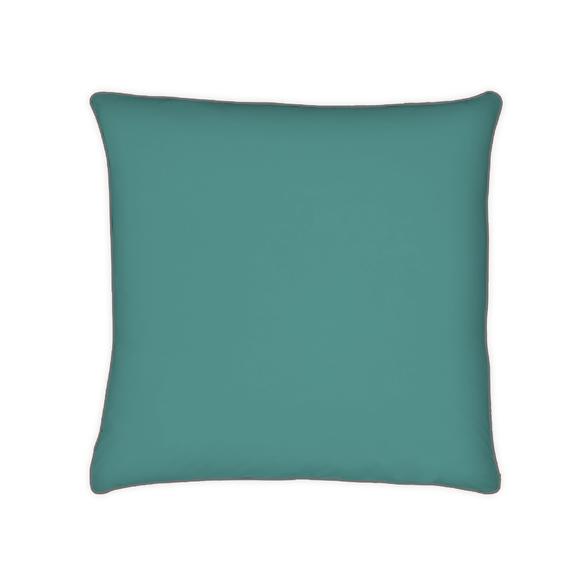 Federa quadrata in cotone percalle blu petrolio 65x65