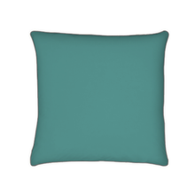 Achat en ligne Taie d'oreiller percale finition passepoil bleu paon 65x65