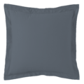 Federa quadrata in cotone percalle blu grigio 65x65cm