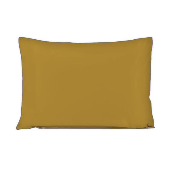 Federa in cotone percalle giallo curry 50x70cm