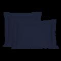 Taie d'oreiller percale à finition passepoil encre 65x65cm