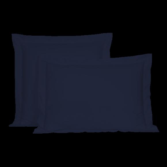 Federa in cotone percalle blu 50x70cm