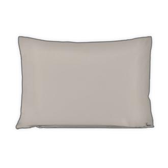 Taie d'oreiller en percale finition passepoil gris 50x70cm