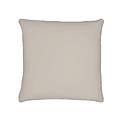Federa quadrata in cotone percalle grigio 65x65cm