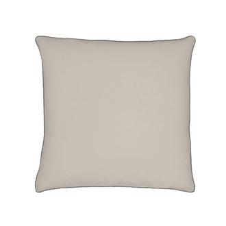 Taie d'oreiller en percale finition passepoil gris 65x65cm