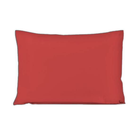 Federa in cotone percalle rosso 50x70cm