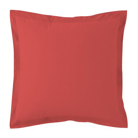 Federa quadrata in cotone percalle rosso 65x65cm
