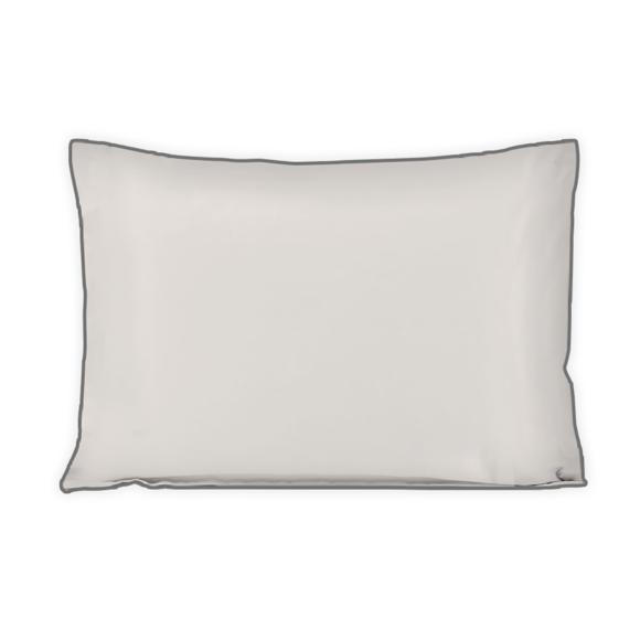 acquista online Federa in cotone percalle finitura avorio 50x70cm